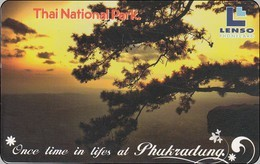 Thailand Phonecard  Phukradung Sunset 300 Baht  Lenso Nr. 266 - Thaïland