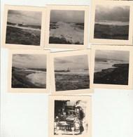 Lot 7 Photos Format 7 X 7 Cm - 1952 SAUSSET Les Pins Bouches Du Rhône Dont Voiture Et Phare - 2 Scan - Lieux