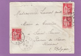 LETTRE DE HAUTMONT POUR UNE DEMOISELLE D'UNE MAISON DE CORRECTION A SAINT-SERVAIS,NAMUR. - France