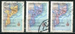 MOZAMBIQUE 1954 - Mi. 441 O, Map Of Mocambique - Mozambique