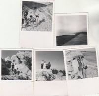 Lot 4 Photos Format 8,5 X 6  Cm - 1951 SAUSSET Les Pins Bouches Du Rhône Animées + 1 Petite- 2 Scan - Lieux
