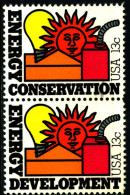 UNITED STATES/USA - 1977  ENERGY PAIR  MINT NH - Stati Uniti