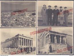 Au Plus Rapide Escale En Grèce Athènes Pour Les Marins Du Croiseur Gloire Années 50 Ensemble 28 Photos - War, Military