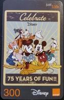 Mobilecard Thailand - Orange - Disney - Minnie , Mickey , Goofy , Donald , Daisy - Thaïlande