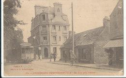 AN 113  / C P A  -  EQUEURDREVILLE  (50)   UN COIN  PRES L'OCTROI - Equeurdreville