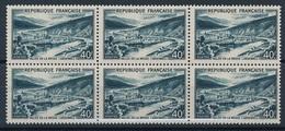 CP-348: FRANCE: Lot  N°842A** Bloc De 6 - Unused Stamps