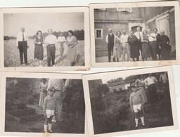 Lot 4 Photos Format 9 X 6,5 Cm - 1932 - PORTET Sur Garonne Haute Garonne - Animées - 2 Scan - Lieux