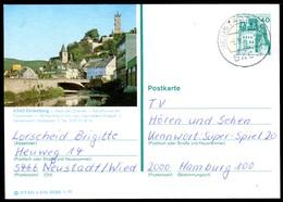 76286) BRD - P 124 E3/44 - OO Gestempelt 5466 - 6340 Dillenburg - Stadtansicht - [7] République Fédérale
