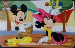 Mobilecard Thailand - 12Call/AIS  - Disney - Mickey & Minnie (9) - Thaïland