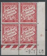 Lot N°48438  Bloc De Quatre Coins Datés N°87, NEUF** Sans Charnière - Taxes