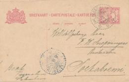 Nederlands Indië - 1918 - 5 Cent Cijfer, Briefkaart G23 Van LB PAGARALAM Naar Soekaboemi - Niederländisch-Indien
