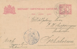 Nederlands Indië - 1918 - 5 Cent Cijfer, Briefkaart G23 Van LB PAGARALAM Naar Soekaboemi - Indes Néerlandaises