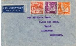 Nederlands Indië - 1936 - 3 Zegels Op LP-cover Van LB PAKANBAROE Naar Culemborg / Nederland - Indes Néerlandaises