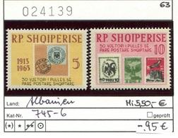 Albanien - Albanie - Albania - Michel 745-746 - ** Mnh Neuf Postfris - - Albanien