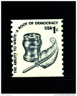 UNITED STATES/USA - 1975  1c.  THE ABILITY TO WRITE  COIL PERF. 10 VERT  MINT NH - Stati Uniti