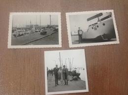 Ostende 3 Photos Vue Du Port - Cartes Postales