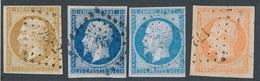 CR-68: FRANCE: Lot  Avec N°13B-14A-14Ac-16 Obl - 1853-1860 Napoléon III