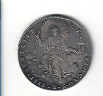 Stato Pontificio PIO VII° 1800-1823 Scudo 1818 Bologna Gig.31 Bb/q.spl  D.243 - Monete Regionali