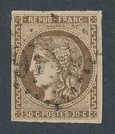 CR-70: FRANCE: Lot  Avec N°47 Obl - 1870 Emission De Bordeaux