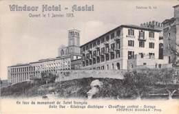 ITALIA Italie ( Umbria Perugia ) ASSISI : WINSOR Hotel (1913) En Face Monument ST FRANCOIS - CPA - Italy Italien Italië - Perugia