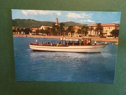 Cartolina Diano Marina - Riviera Dei Fiori - M/B Dea Diana E Spiaggia - 1970 Ca. - Imperia