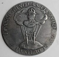 Rare Grande Médaille Scoutisme Cinquentenaire France Baden Powell Scout - France