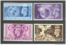 Great Britain 1948 Mi 237-240 MNH - 1902-1951 (Rois)