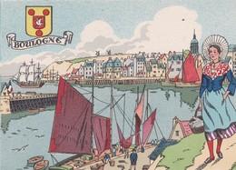 CPSM 10 X15 . Edit. BARRE - DAYEZ . 1414 C . Les Ports  ( 62) BOULOGNE   (Illust. Non Signée ) Edit. 1946-4 - Boulogne Sur Mer