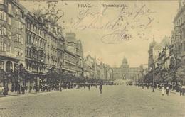 PRAG - Wenzelplatz, Gel.1917? - Tchéquie