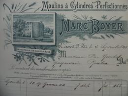 FACTURE ILLUSTRÉE MOULINS A CYLINDRES MARC BOYER A CANET D AUDE - France