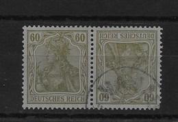 Combinación De Reich Nº Michel K-4 O - Zusammendrucke