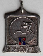 Médaille Partie émaillée Récompense Brevet Du Nageur Scolaire Offert Par Journal L'Intransigeant Natation - Swimming