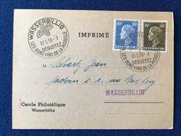 Luxembourg - Cercle Philatélique Wasserbillig - Invitation à L'Assemblée 07.05.56 - Autres