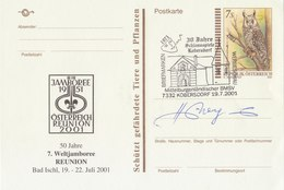 AUSTRIA 2001 PostCard With Owl 50 Years World Jamboree.BARGAIN.!! - Hiboux & Chouettes