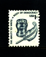UNITED STATES/USA - 1977  1c. THE ABILITY TO WRITE  MINT NH - Stati Uniti