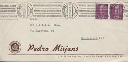 3393  Carta   Barcelona  1961,Arte Románico, - 1931-Hoy: 2ª República - ... Juan Carlos I