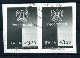 2010 REP. IT. 3,30€  Federacciai COPPIA USATA - 2001-10: Usati