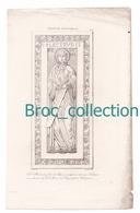 Sainte Plectrude, Fille De Pépin, Sculpture De Son Tombeau, Cologne, Gravure D'Augustin François Lemaître, Vernier - Devotion Images