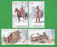 2012. History Of Medieval Moldova, Arms, 4v.MNH - Moldova
