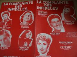 Partition Ancienne PF Jacqueline François Darrieux Mouloudji Mouloudji Arnaud Dauberson La Complainte Des Infidèles 1951 - Spartiti