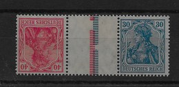 Combinación De Reich Nº Michel KZ-4a * - Zusammendrucke
