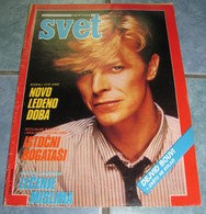 David Bowie - SVET - Yugoslavia January 1985 VERY RARE - Books, Magazines, Comics
