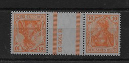 Combinación De Reich Nº Michel KZ-1 MIT HAN * - Zusammendrucke