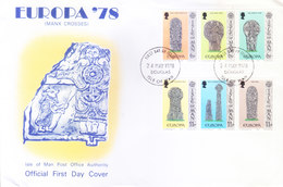 ISLE OF MAN : FIRST DAY COVER, 24 MAY 1978 WITH INSIDE INFORMATION SHEET : EUROPA' 78 - Isle Of Man