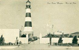 FARO PUNTA MOGOTES - MAR DEL PLATA. ARGENTINA CIRCA 1946's POSTAL POSTALE CIRCULE - LILHU - Faros