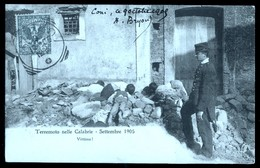 TERREMOTO DELLE CALABRIE DEL 1905 - VITTIME - CADAVERI - VIAGGIATA - Catastrofi