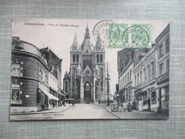 CPA  BELGIQUE BONSECOURS VUE DE L'EGLISE COMMERCES ANIMEE - Belgique