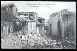 TERREMOTO DELLE CALABRIE DEL 1905 - STEFANACONI - UNA VIA DEL PAESE - Catastrofi