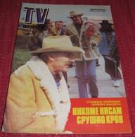Dennis Weaver TV NOVOSTI Yugoslavian August 1983  VERY RARE - Books, Magazines, Comics