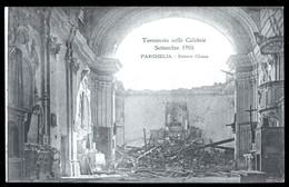TERREMOTO DELLE CALABRIE DEL 1905 - PARGHELIA - INTERNO CHIESA - Catastrofi